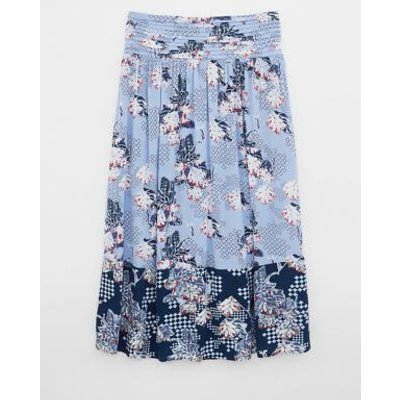 M&S White Stuff Womens Floral Pleat Front Midi A-Line Skirt - 6 - Multi, Multi