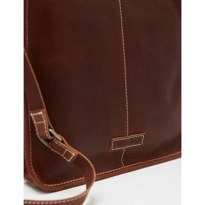 M&S White Stuff Womens Leather Cross Body Bag - 1SIZE - Brown, Brown