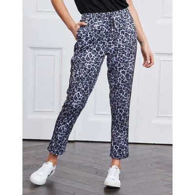 M&S Sosandar Womens Animal Print Slim Fit Cropped Trousers - 6 - Black Mix, Black Mix