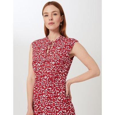 M&S Hobbs Womens Geometric Knee Length Swing Dress - 10 - Red Mix, Red Mix