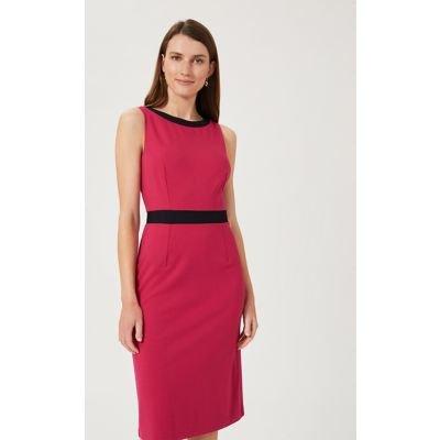 M&S Hobbs Womens Sleeveless Knee Length Tailored Dress - 16 - Pink Mix, Pink Mix