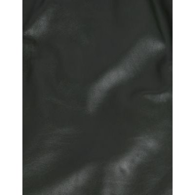 M&S Jaeger Womens Leather Biker Jacket - 8 - Dark Green, Dark Green