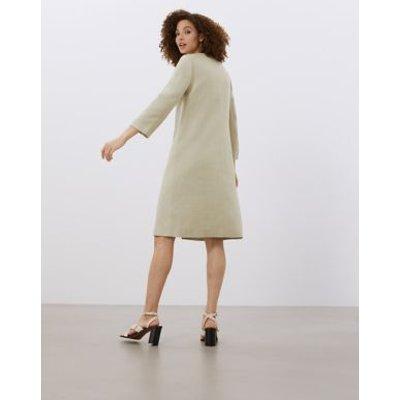 M&S Jaeger Womens A-Line Dress Coat - 6 - Stone, Stone