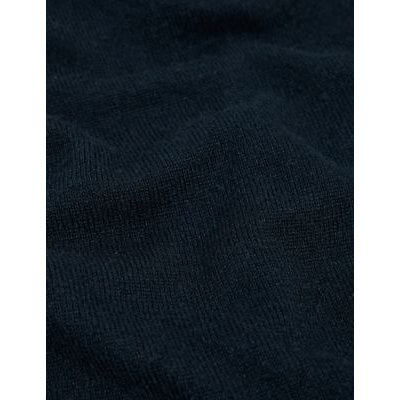 M&S Jaeger Womens V-Neck Cardigan with Cashmere - Navy, Navy,Black