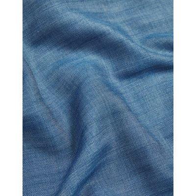 "M&S Jaeger Womens Pure Tencelâ""¢ Belted 3/4 Sleeve Jumpsuit - 8 - Blue, Blue"