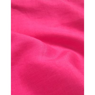 M&S Jaeger Womens Pure Linen Colour Block Shift Dress - 8 - Hot Pink, Hot Pink