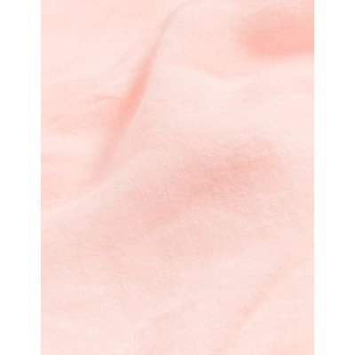 M&S Jaeger Womens Pure Linen Robe - S - Pink, Pink