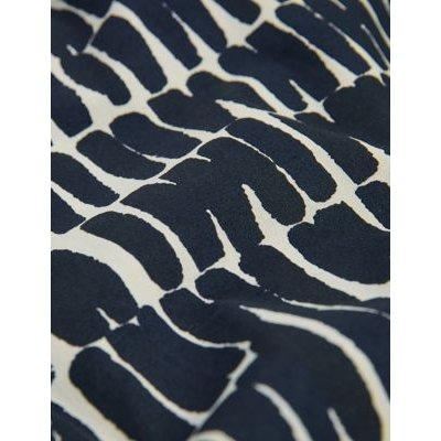 M&S Jaeger Womens Cotton Printed V-Neck Sleeveless Tunic - 6 - Navy/White, Navy/White