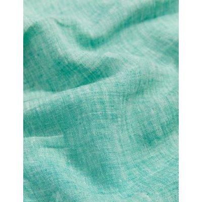 M&S Jaeger Womens Pure Linen V-Neck Pintuck Sleeveless Blouse - 8 - Teal, Teal