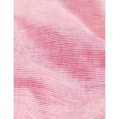 M&S Jaeger Womens Pure Linen Striped V-Neck Sleeveless Top - 8 - Hot Pink, Hot Pink