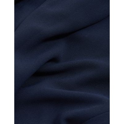 M&S Jaeger Womens Relaxed Jacket - 8 - Navy, Navy,Black