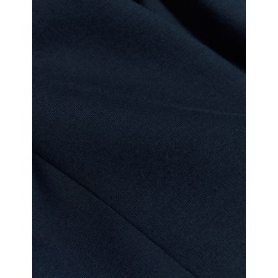 M&S Jaeger Womens Single Breasted Tailored Jersey Jacket - 6 - Navy, Navy