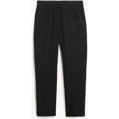 M&S Jaeger Womens Women's Tapered 7/8 Trousers - 6 - Black, Black,Navy