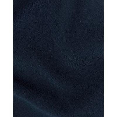M&S Jaeger Womens Crepe Slim Fit Cigarette Trousers - 8 - Navy, Navy,Black