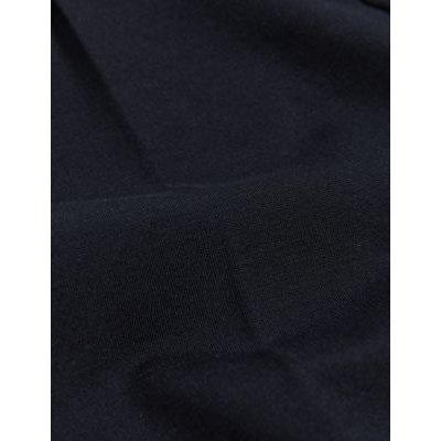 M&S Jaeger Womens Ponte Slim Fit Cigarette Trousers - 8 - Navy, Navy,Black