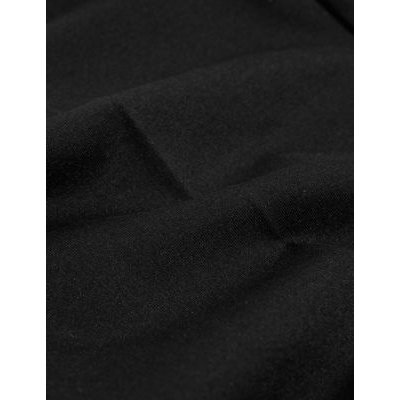 M&S Jaeger Womens Ponte Slim Fit Cigarette Trousers - 8 - Black, Black,Navy