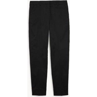 M&S Jaeger Womens Cotton Tapered Chinos - 10 - Black, Black,Navy,Stone