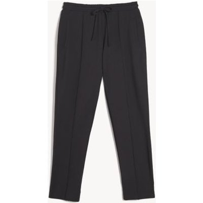 M&S Jaeger Womens Jersey Drawstring Joggers - XS - Charcoal, Charcoal