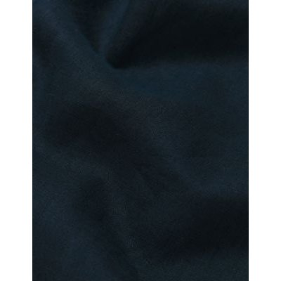 M&S Jaeger Womens Pure Linen Lounge Trousers - 6 - Navy, Navy