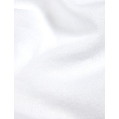 M&S Jaeger Womens Pure Linen Broderie Midi A-Line Skirt - 8 - White, White