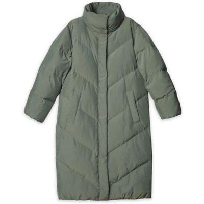 M&S Albaray Womens Longline Puffer Jacket - 10 - Olive, Olive