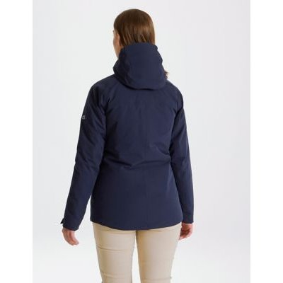 M&S Craghoppers Womens Waterproof Hooded Utility Jacket - 10 - Navy, Navy,Blue