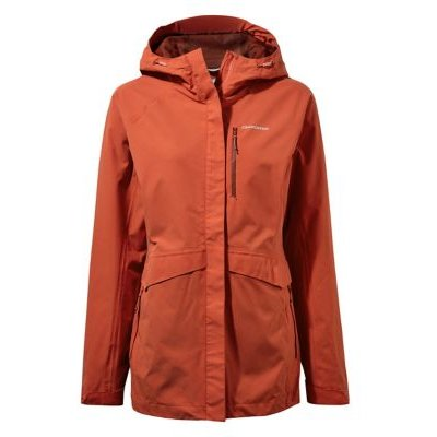 M&S Craghoppers Womens Waterproof Hooded Coat - 8 - Orange, Orange,Blue