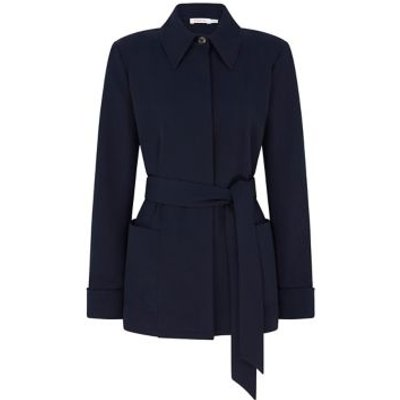 M&S Finery London Womens Belted Short Jacket - 8 - Navy, Navy