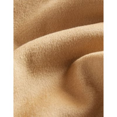 M&S Jaeger Womens Pure Wool Longline Wrap Coat - 6 - Light Camel, Light Camel