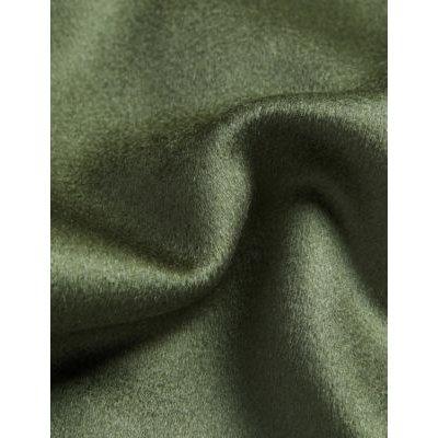 M&S Jaeger Womens Pure Wool Funnel Neck Tailored Coat - 8 - Dark Green, Dark Green