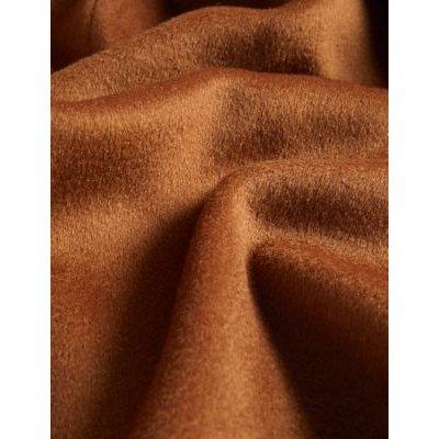 M&S Jaeger Womens Pure Wool Longline Utility Wrap Coat - 8 - Brown, Brown