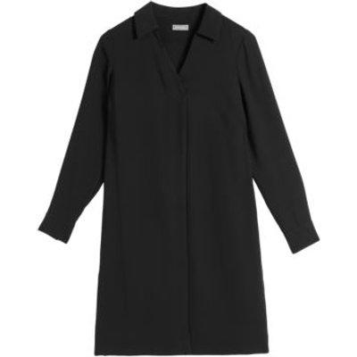M&S Jaeger Womens V-Neck Knee Length Swing Dress - 6 - Black, Black,Khaki,Navy
