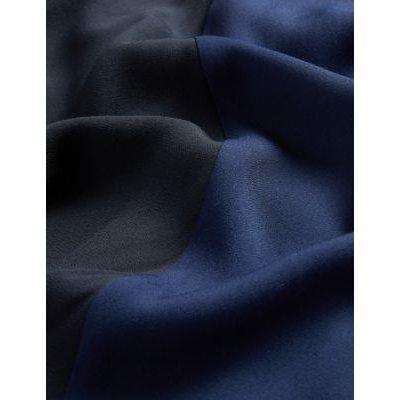 M&S Jaeger Womens Colour Block Midi A-Line Skirt - 8 - Black Mix, Black Mix