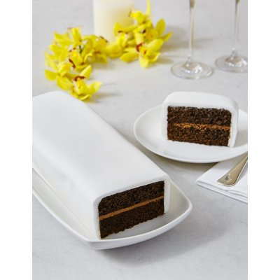Wedding Cutting Bar Cake - Chocolate with White Icing (Serves 22)