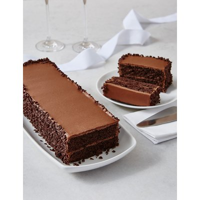 Wedding Cutting Bar Cake - Chocolate Sponge with Chocolate Ganache (Serves 22)