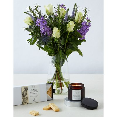 Thinking of You Bouquet, Shortbread & Scented Candle Gift