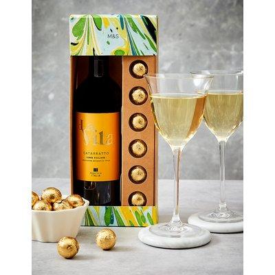 White Wine and Chocolates Gift Set
