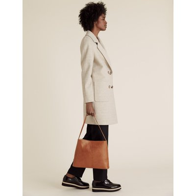 Leather Tote Bag brown