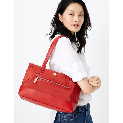 M&S Collection Zipped Detail Tote Bag