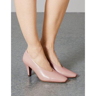 Autograph Leather Stiletto Heel Court Shoes