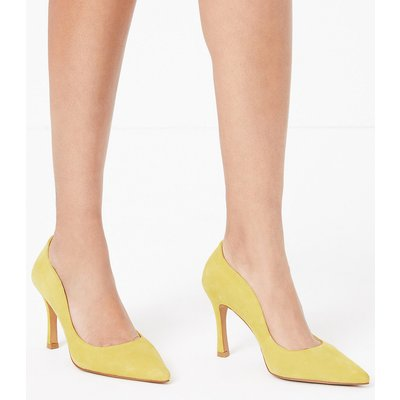 Autograph Suede Curved Side Stiletto Court Shoes