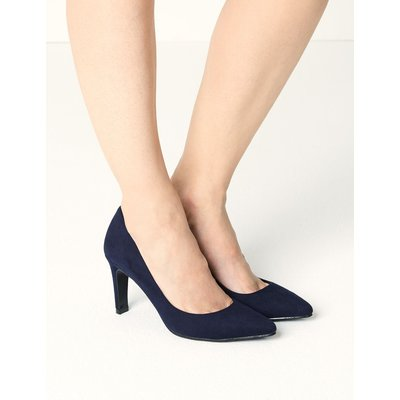Stiletto Heel Pointed Toe Court Shoes blue