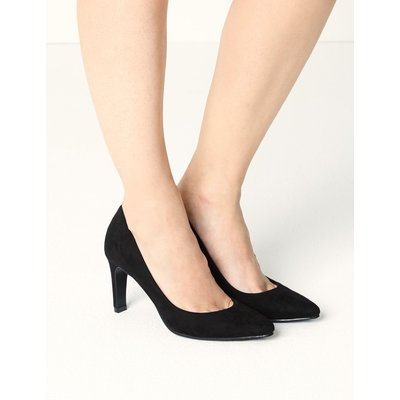 Stiletto Heel Pointed Toe Court Shoes black