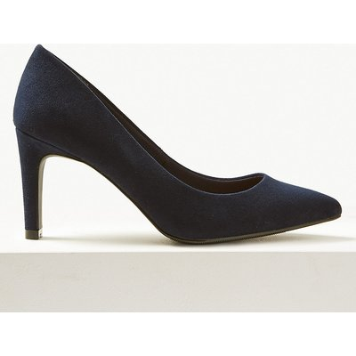 M&S Collection Wide Fit Stiletto Heel Pointed Court Shoes