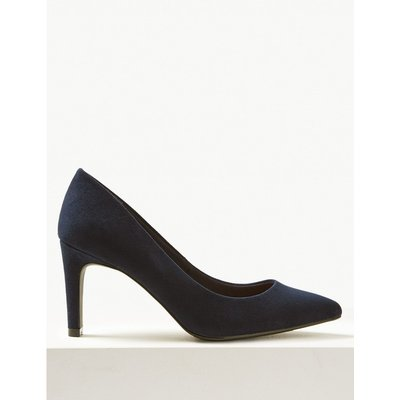 Wide Fit Stiletto Heel Pointed Court Shoes navy