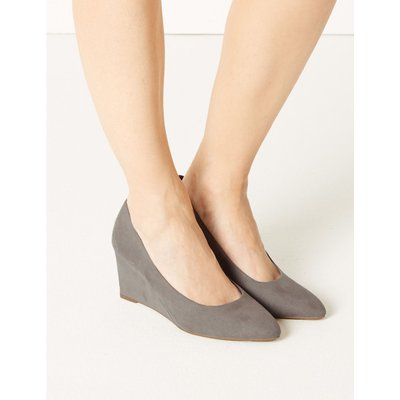 Wedge Court Shoes grey