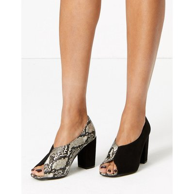 M&S Collection Snakeskin Print Peep Toe Shoe Boot
