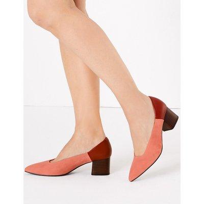 M&S Collection Suede Colour Block Court Shoes
