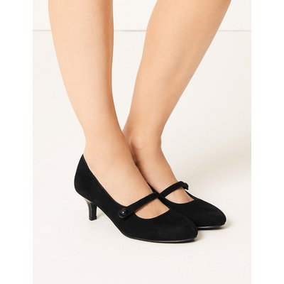 M&S Collection Suede Kitten Heel Court Shoes