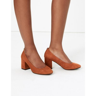 M&S Collection Suede Round Toe Court Shoes